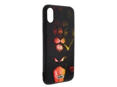 Пластмасов гръб Boter за iPhone X / 10, Лъв