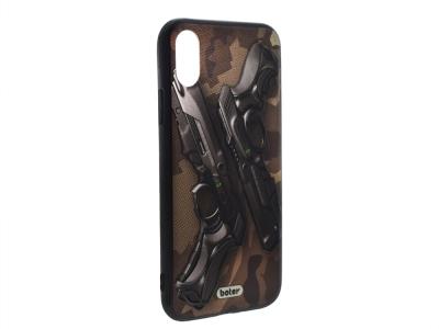 Пластмасов гръб Boter за iPhone X / 10, Пистолети