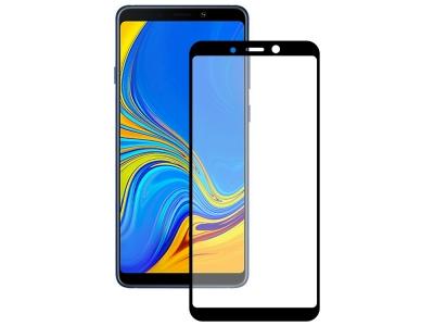 Стъклен Протектор 3D Full за Samsung Galaxy A9 2018, Черен