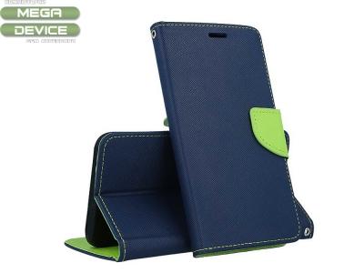 Калъф Тефтер Fancy за Samsung Galaxy A70, Син/ Зелен