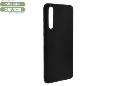 Силиконов Гръб Carbon Matte за Huawei P20 Pro, Черен