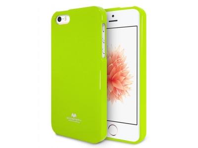 Силиконов гръб Jelly Mercury за iPhone 5 / SE, Зелен