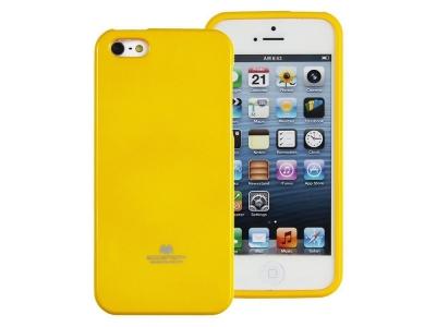 Силиконов гръб Jelly Mercury за iPhone 5 / SE, Жълт