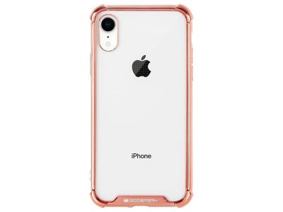 Силиконов Гръб Mercury WONDER за iPhone XR, Розов / Златист