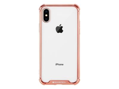 Силиконов Гръб Mercury WONDER за iPhone X / XS, Розов / Златист