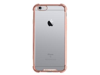 Силиконов Гръб Mercury WONDER за iPhone 6 / 6S, Розов/ Златист