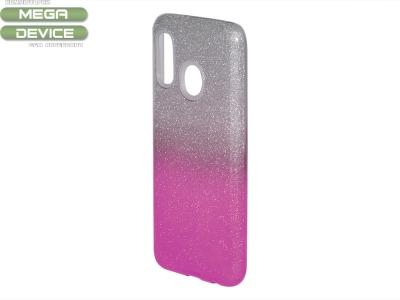Силиконов Гръб SHINING за Samsung Galaxy A20e, Сребрист/ Розов