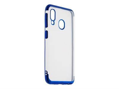 Силиконов гръб с лайсна CLEAR за Samsung Galaxy A20e, Син