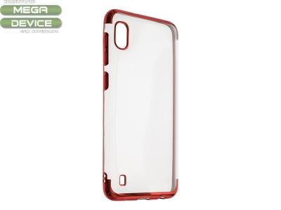 Силиконов гръб с лайсна CLEAR за Samsung Galaxy A10 /M10, Червен