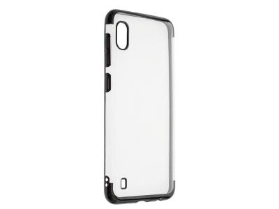 Силиконов гръб с лайсна CLEAR за Samsung Galaxy A10 /M10, Черен