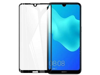 Стъклен Протектор 5D Full Glue за Huawei Y5 2019, Черен