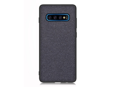 Калъф Гръб Cloth Texture PU Leather - Galaxy S10 Plus - Dark Blue