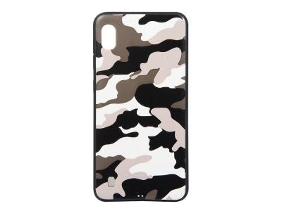 Силиконов Гръб Camouflage - Samsung Galaxy A10 - White