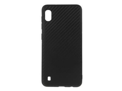 Силиконов гръб Carbon за Samsung Galaxy A10, Черен