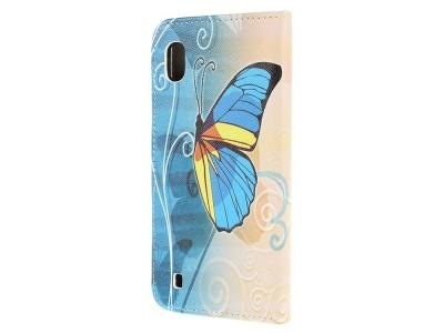 Калъф Тефтер за Samsung Galaxy A10, Цветна пеперуда