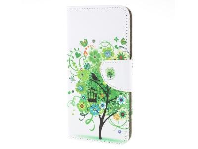 Калъф Тефтер за Samsung Galaxy A10, Зелено дърво