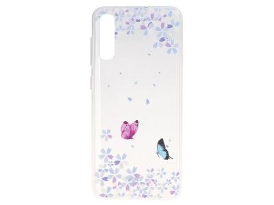 Силиконов Гръб за Samsung Galaxy A50/ Galaxy A30s, Пепруди и цветя