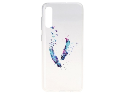 Силиконов Гръб за Samsung Galaxy A50/ Galaxy A30s, Цветно перо