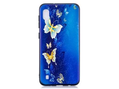 Силиконов Гръб - Samsung Galaxy A10 - Butterfly Pattern