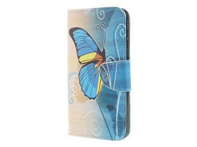 Калъф Тефтер за Samsung Galaxy A50/ Galaxy A30s , Шарена пеперуда