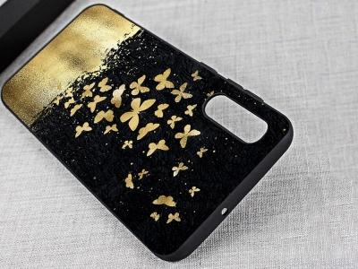 Силиконов Гръб за Samsung Galaxy A50/ Galaxy A30s, Златни пеперуди