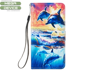 Калъф Тефтер за Samsung Galaxy A20e , Делфини