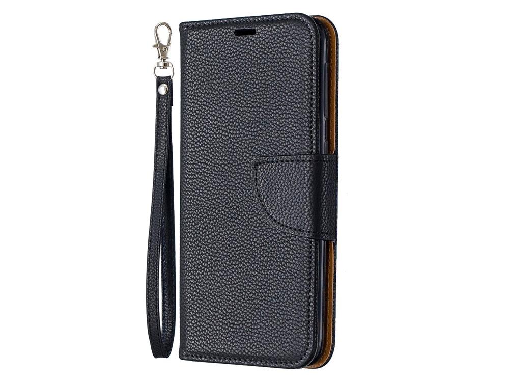 Калъф Тефтер Litchi за Samsung Galaxy A20e, Черен