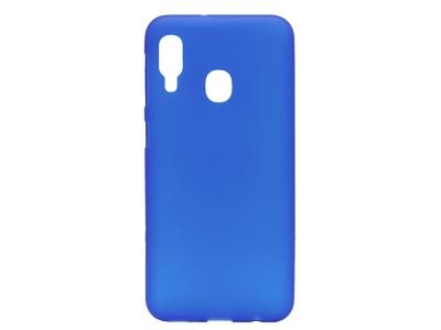 Силиконов гръб Matte за Samsung Galaxy A20e, Син