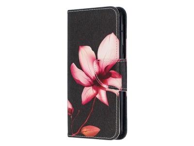 Калъф Тефтер за Samsung Galaxy A20e, Красиво цвете