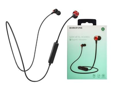 Магнитни Bluetooth Слушалки  BOROFONE JoyMove BE18, Черен / Червен