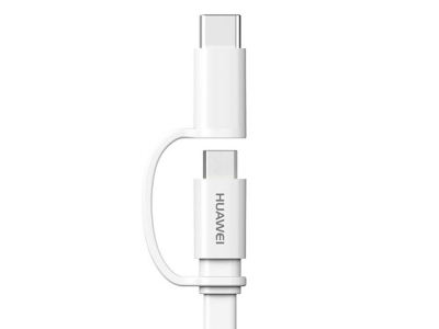 Оригинален кабел Huawei AP55 Type-C/microUSB , Бял