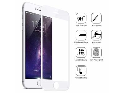 Стъклен протектор 5D Full Glue за Iphone 6 Plus , Бял