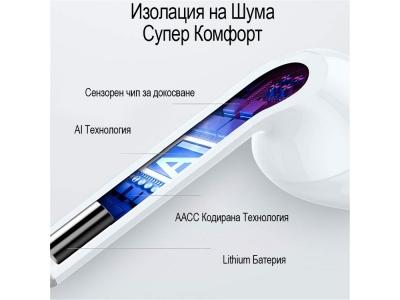 Слушалки i11 TWS Bluetooth 5.0 Touch, Pop-Up, 3D звук