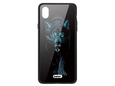 Калъф Гръб Glass Boter - iPhone XS Max - Wolf