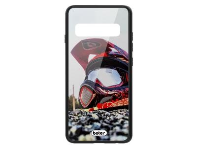 Калъф Гръб Glass Boter - Samsung Galaxy S10 Plus - Helmet Cross