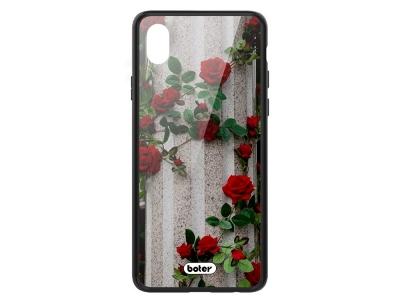 Пластмасов Гръб Glass Boter за iPhone XR (6.1) , Рози