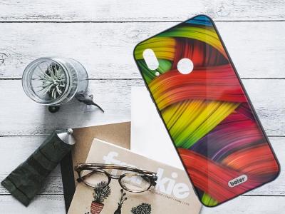 Пластмасов Гръб Glass Boter за Huawei P20 LIte, Цветни нишки