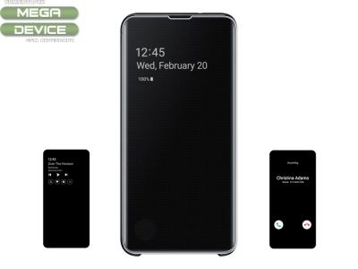 Оригинален калъф тефтер за Samsung G950 GALAXY S10 PLUS, Черен