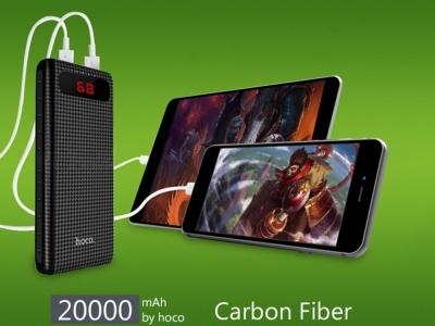 Универсална Външна Батерия HOCO 20000mAh LCD Mige B20A , Черен