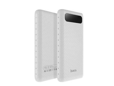 Универсална Външна Батерия HOCO 20000mAh LCD Mige B20A, Бял