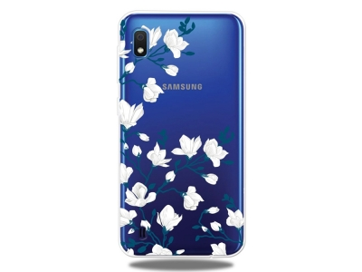 Силиконов Гръб - Samsung Galaxy A10 - White Flower