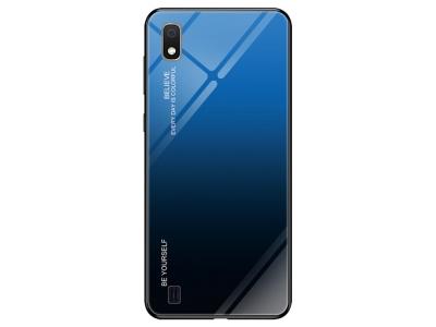Калъф Гръб Glass - Samsung Galaxy A10 / M10 - Blue / Black