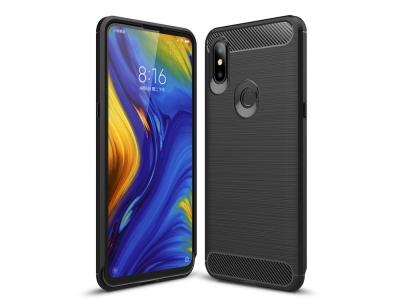 Силиконов гръб Carbon за Xiaomi Mi Mix 3 / Mix 3 5G, Черен