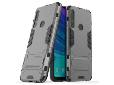 Удароустойчив гръб с Поставка за Huawei P Smart Z / Y9 Prime 2019, Сив