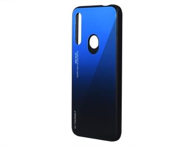 Стъклен Гръб Glass за Huawei P Smart Z 2019, Син/ Черен