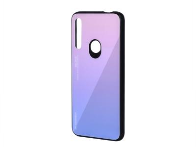 Стъклен Гръб Glass за Huawei P Smart Z 2019, Розов/ Лилав