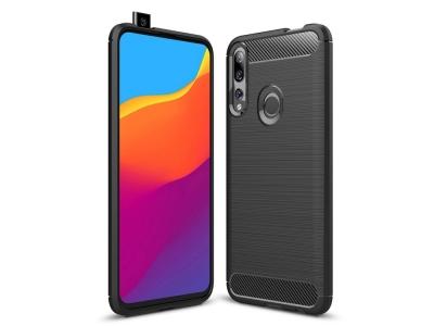 Силиконов гръб Carbon за Huawei P Smart Z / Y9 Prime (2019), Черен