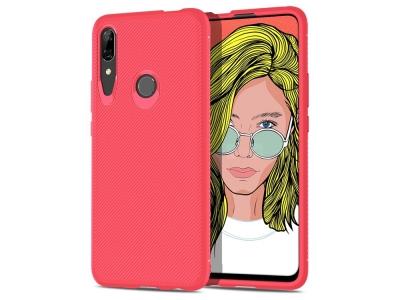 Силиконов Гръб  Twill за Huawei P Smart Z / Y9 Prime (2019), Червен