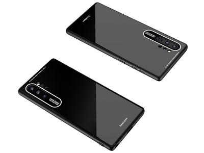 Стъклен Гръб Glass Laica за Samsung Galaxy Note 10 Plus, Черен