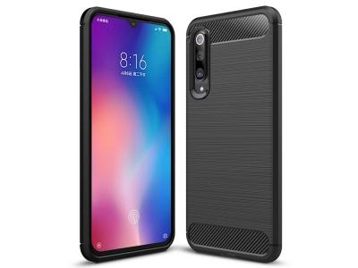 Силиконов гръб Carbon за Xiaomi Mi 9 SE, Черен